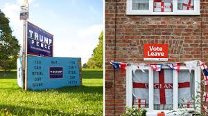 Similar Flags In The U S And U K Anti Establishment Voters Sound Similar
