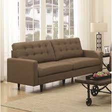 Kesson  Modern Sofa Brown Fabric - Fabric modern sofa