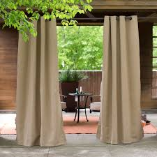 Emerald Curtain Panels by Coral Coast Sunbrella Outdoor Curtain Panel Hayneedle