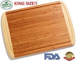 amazon com king size organic bamboo cutting board w lifetime