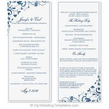 tea length wedding programs wedding program template instant edit yourself chic