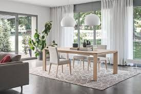 Modern Extendable Dining Table by Omnia Wood Modern Extendable Dining Table Calligaris