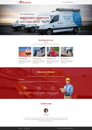 Business Templates For Pages Html5 Responsive Roofing Landing Page Design Template For Roofing