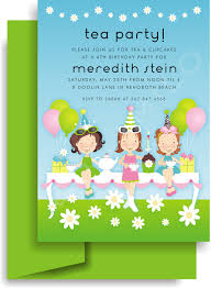kt 5017 tea party thank you note classic kids party invites