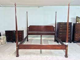 Henkel Harris Dining Room Henkel Harris King Bed Mahogany Pencil Post Bed Sold U2013 Jenkins
