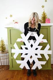 Christmas Decor Diy Ideas With Wood Giant Snowflake Light Up Marquee A Beautiful Mess