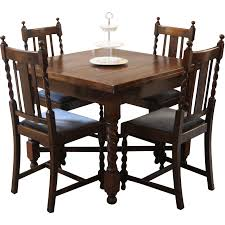 antique english draw leaf pub dining table and chairs barley