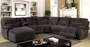 Black Fabric Sectional Sofas With Chaise And Recliner Leather Sofa Set Fabric Sectional