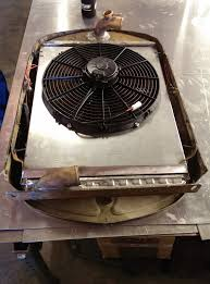 electric radiator fans and shrouds 1930 ford model a stede rod custom radiator electric fan shroud