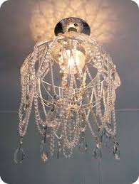 Handmade Chandeliers Lighting From A Lamp Shade Seriously Such A Good Idea I Will Be Doing It