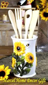 Marcel Home Decor Sunflower Kitchen Decor Kitchen Tool And Holder Sunflower