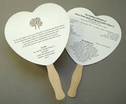 how to make fan wedding programs how to make wedding fans church fans
