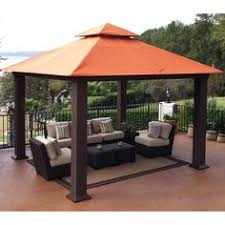 backyard creations curved gazebo with mosquito netting for the