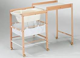 Changing Table Bath Wooden Changing Table On Casters With Bath Geuther