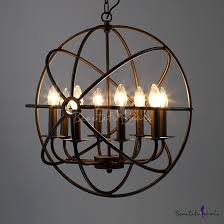 Industrial Crystal Chandelier 4 Light Cage Chandelier Oil Rubbed Bronze Contemporary Viyet