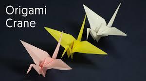 origami crane kids origami paper crane craft tutorial youtube