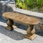 butterfly bench curved castart