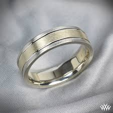 two tone wedding rings men s 6mm two tone wedding band 1212