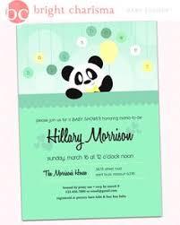 Panda Baby Shower Invitations - sweet panda baby shower invitation cherry blossom by monkeyhut