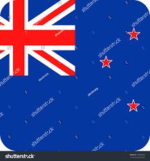 New Zealabd Flag New Zealand Flag Vector Square Flat Stock Vector 733296358