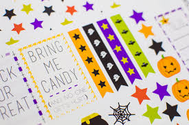 Halloween Stickers Make Your Own Happy Planner Halloween Stickers