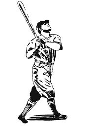 realistic printable baseball batter coloring