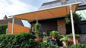 Metal Pergolas With Canopy by Wall Mounted Pergola Metal Fabric Sliding Canopy Commercial