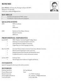 example of resume for applying job sample resume bank teller