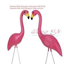 12 pink plastic flamingos garden accessories crafts landscape home