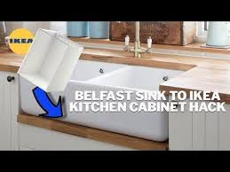 ikea kitchen sink cabinet how to undermount a farmhouse apron sink in an ikea