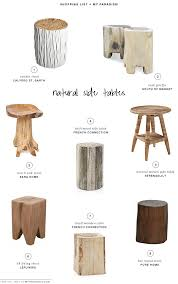 Zara Side Table with Natural Side Tables Tree Trunks Stools And Beautiful Space