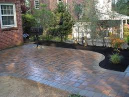 Paved Garden Design Ideas Backyard Patio Design Ideas With Open Pavers Idea Gorgeous And