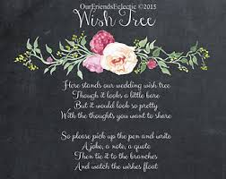 wedding wishes poem wishing tree poem etsy