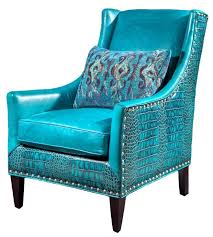 Blue Leather Chair La Maison Luxury Furniture Turquoise Trends Interior Design