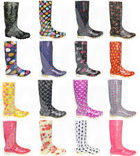 womens wellington boots size 9 s wellington boots in floral pattern ebay