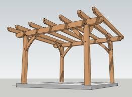 Pergola Plans Designs by 5 Basic Timber Frame Design Considerations For Building A Pergola