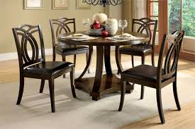 Dining Table Chairs Set Small Dining Room Design Ideas With Rounded Wood Dining Table Set