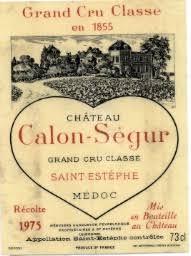 château calon ségur grand cru 1975 château calon ségur bordeaux médoc st estèphe