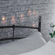 indoor battery rose gold metal lantern string lights