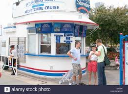 ticket booth for sightseeing boat cruises at navy pier chicago
