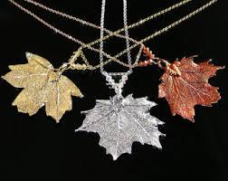 silver leaf necklace pendant images Maple leaf pendant etsy jpg