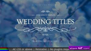 wedding free after effects templates after effects intro