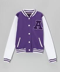 cutie patootie purple letterman jacket zulily