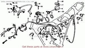 honda xl185s 1982 c usa wire harness ignition coil c d i uni