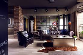 industrial home interior apartments prepossessing fabulous marvel heroes themed house