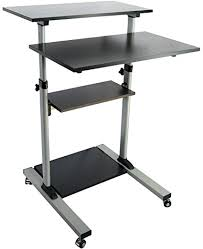 rolling stand up desk amazon com vivo mobile height adjustable stand up desk with