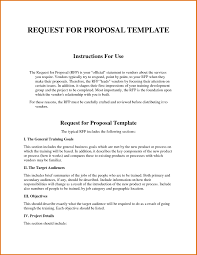 Business Lease Proposal Template Request For Proposal Template Word Best Business Template