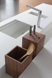 the recess in the counter is sheer genius so is the sliding sink