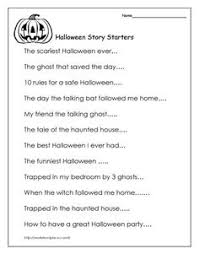 how can i teach students to enjoy writing during halloween