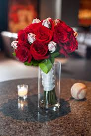 roses centerpieces sports themed weddings sports themed wedding reception centerpieces
